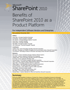 sharepoint for isvs white paper